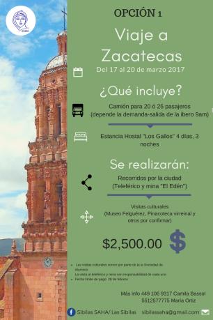 Viaje a Zacatecas Opción1
