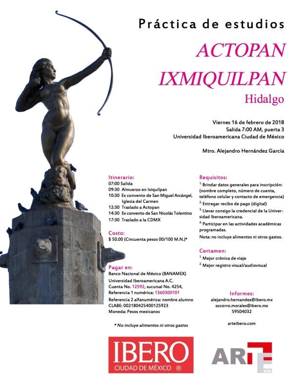 Viaje Actopan e Ixmiquilpan 2018 versión final