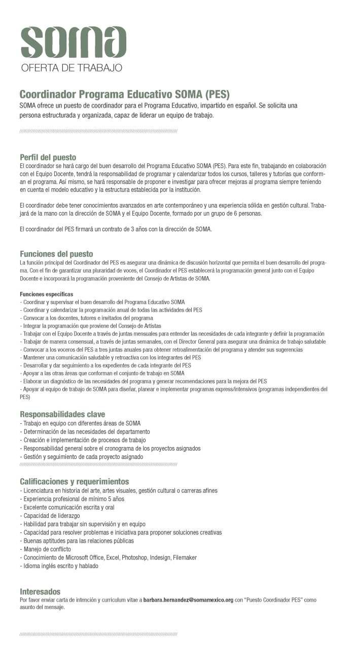 Coordinador Programa Educativo
