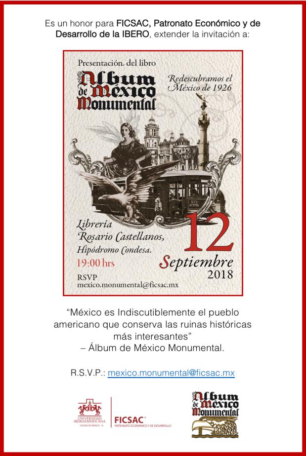Invitación a la Presentación del Álbum de México Monumental